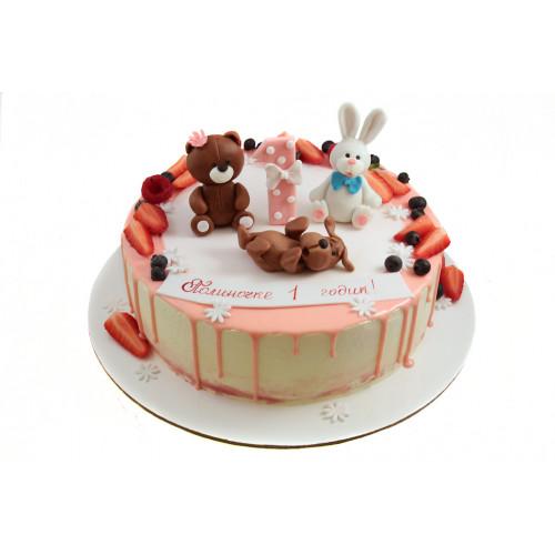 Торт на 1 годик с фигурками