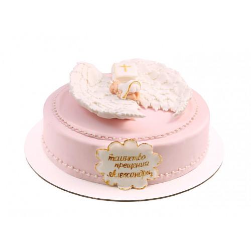 Торт на крещение девочки