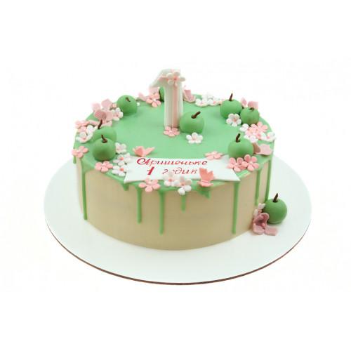 Детский торт для девочки на один год