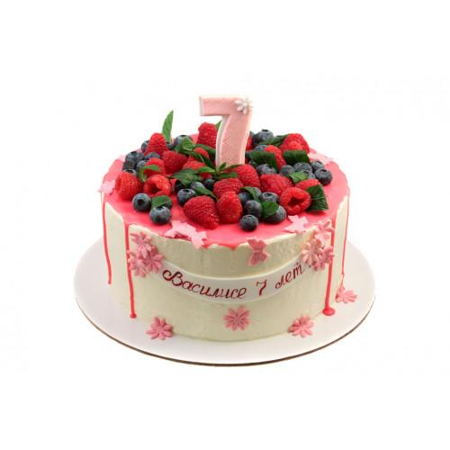 Детский торт на 7 лет девочке