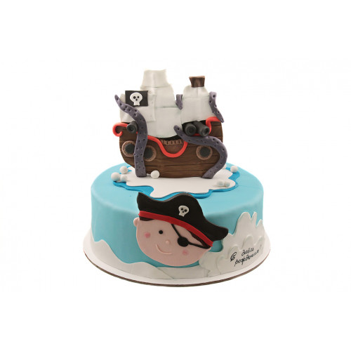 Детский торт с пиратским кораблем