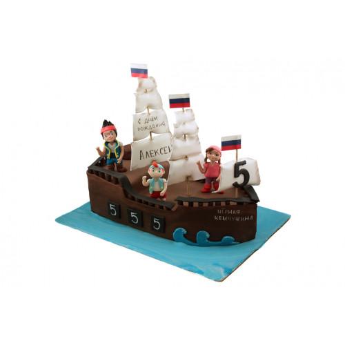 Торт Корабль с друзьями
