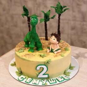 Торт с Динозавром и Мальчиком