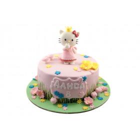 Торт для девочки с котенком