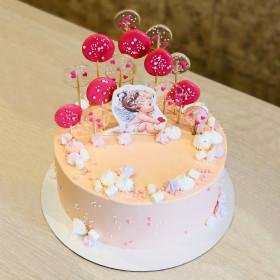 Торт для малыша с леденцами