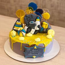 Торт с карамелью и Мишкой