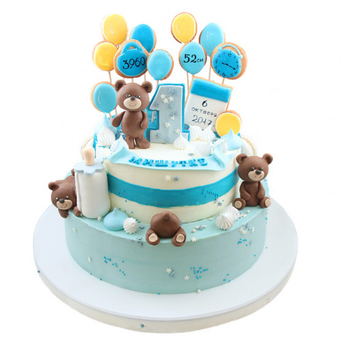 Торт с мишками и пряниками