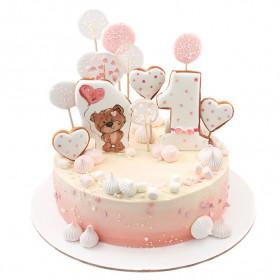 Торт с леденцами и пряниками