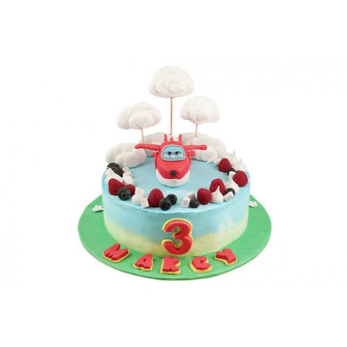 Детский торт с самолетиком