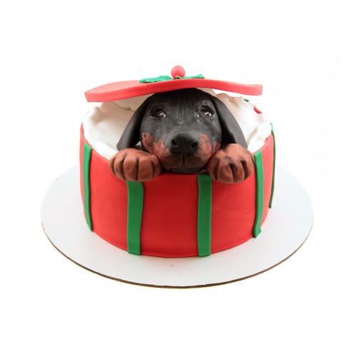 Детский торт щенок в подарок