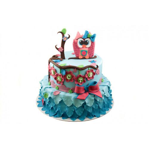 Детский торт с совой
