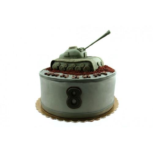 Детский торт для мальчика с танком