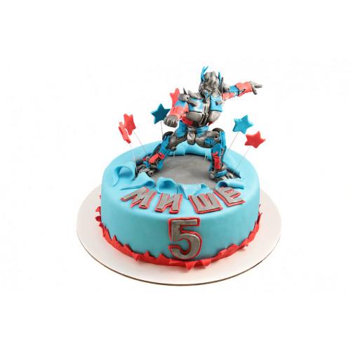 Детский торт трансформер оптимус прайм