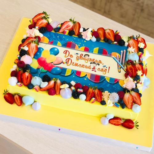 Торт на выпускной в садик