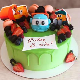 Торт для малыша с машинками