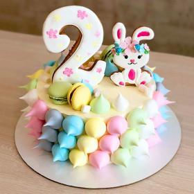 Торт с Зайчиком на 2 года