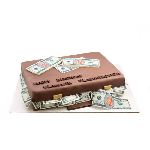 Торт Чемодан с деньгами