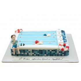 Торт для тренера по плаванью