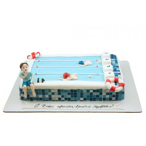 Заказать торт для тренера по плаванью