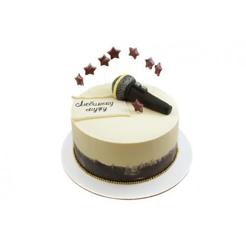 Торт с микрофоном без мастики