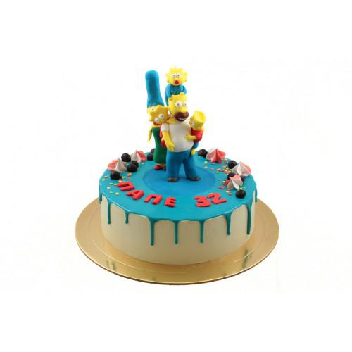 Торт Симпсоны без мастики