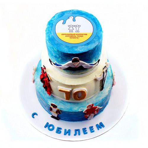 Торт на юбилей 70 без мастики