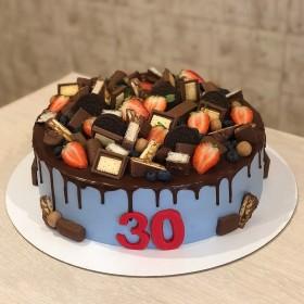 Торт на 30 Лет с конфетами
