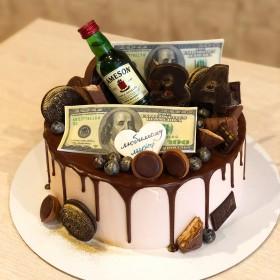Торт с бутылкой