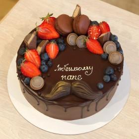 Торт для мужчин с усами