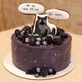 Торт с волком из мультика