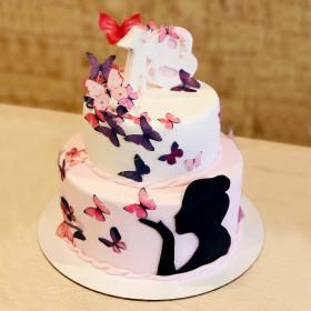 Торт с бабочками на 18 Лет