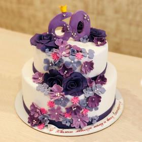 Торт на 60 лет двухъярусный
