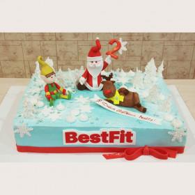 Торт с Дед Морозом на корпоратив