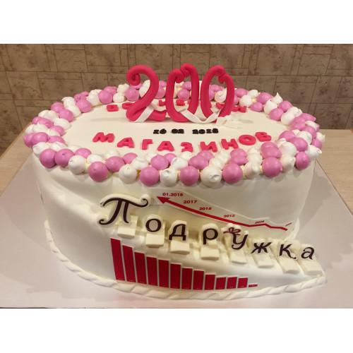 Торт на корпоратив для сети Подружка