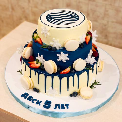 Торт на Новогодний корпоратив для ДБСК