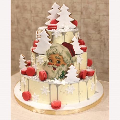 Торт на корпоратив с Дед Морозом