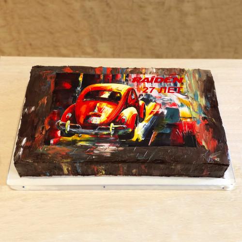 Корпоративный торт c фотопечатью