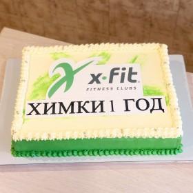 Торт для спортивного клуба на корпоратив
