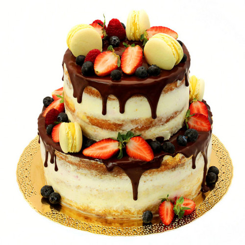 Открытый двухъярусный торт