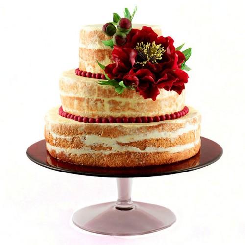 Открытый торт с цветами