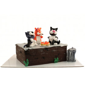 Торт с Котами на отдыхе