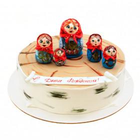 Торт с матрёшками
