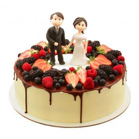 Торт на юбилей свадьбы с ягодами