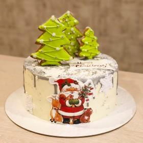 Торт на Новый год с пряниками