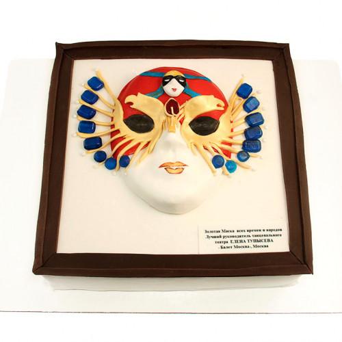 Праздничный торт Золотая маска