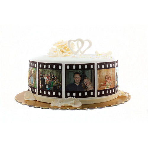 Торт на годовщину с фотографиями