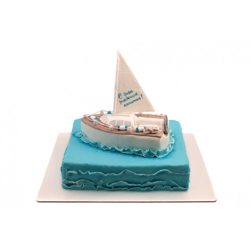 Торт для моряка Парусник