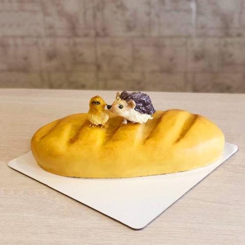 Торт Хлебушек с утенком и ёжиком