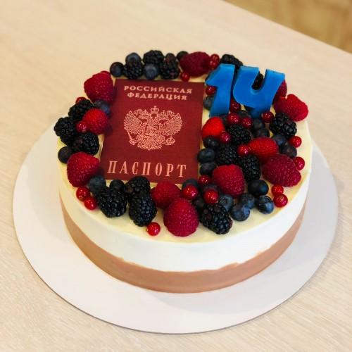 Торт с Паспортом для мальчика