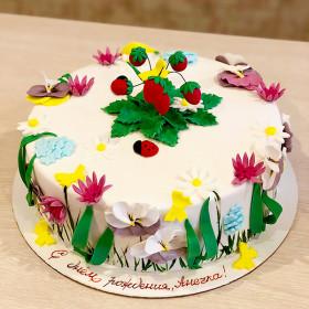 Торт Цветочная поляна